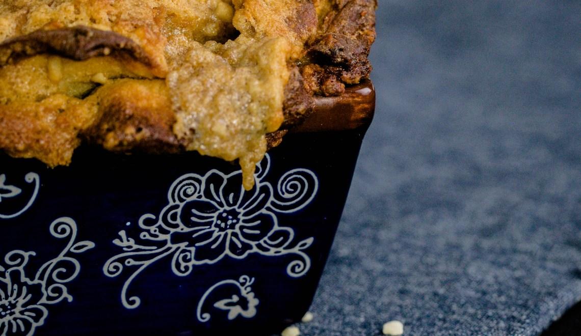 Zupfbrot aus dem Thermomix® Rezept mit Erdnusscreme und Mandeln
