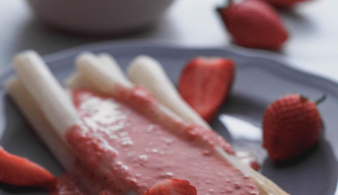 Erdbeersauce zum Spargel