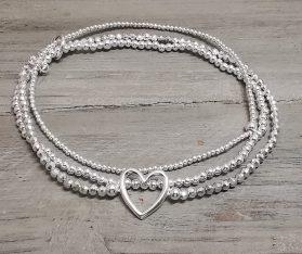 925 Silber Fussketteli