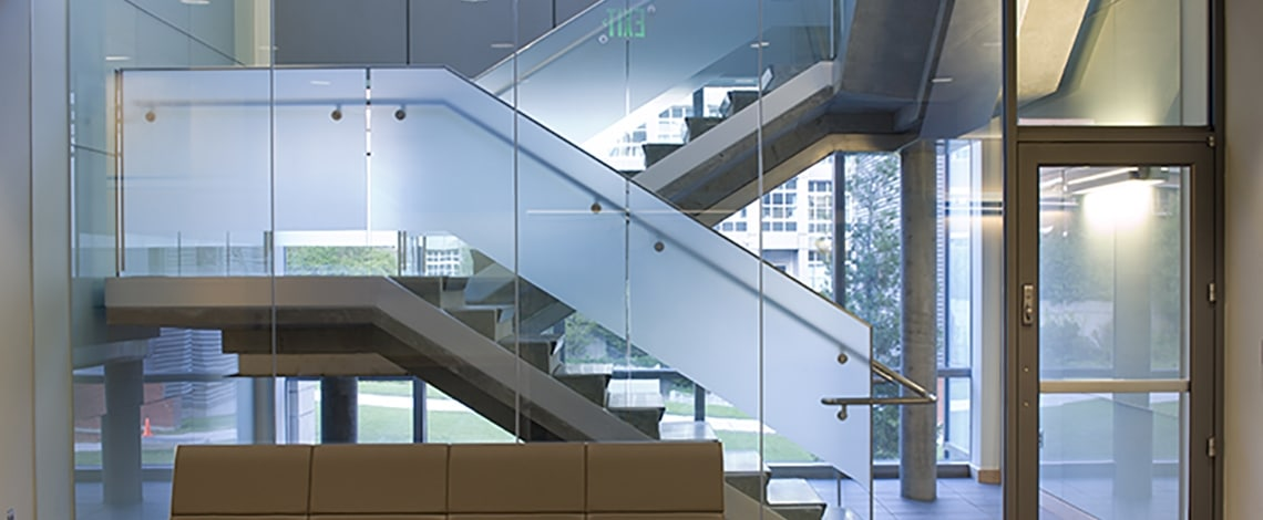Custom-Glass-Stair-Rail-Storefront-UW-Bio-Genome-Lab
