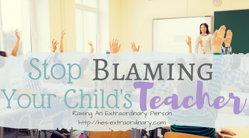 Stop Blaming Teachers