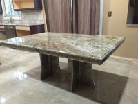 Typhone Boaurdoux Exotic Granite Table with Granite Bases