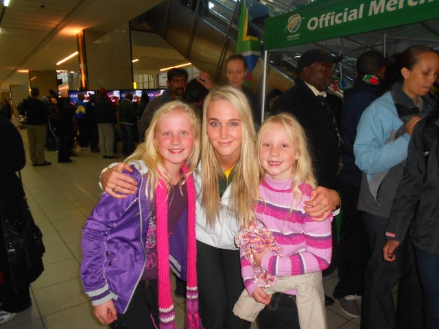 My sister and I with Karin returning from London 2012