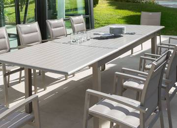 Table De Jardin Extensible Belgique | Table Absolu Extensible Taupe ...