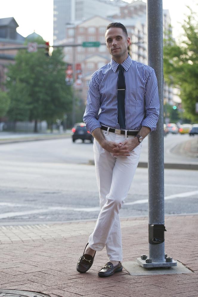 White Denim Dressed Up - He Spoke Style