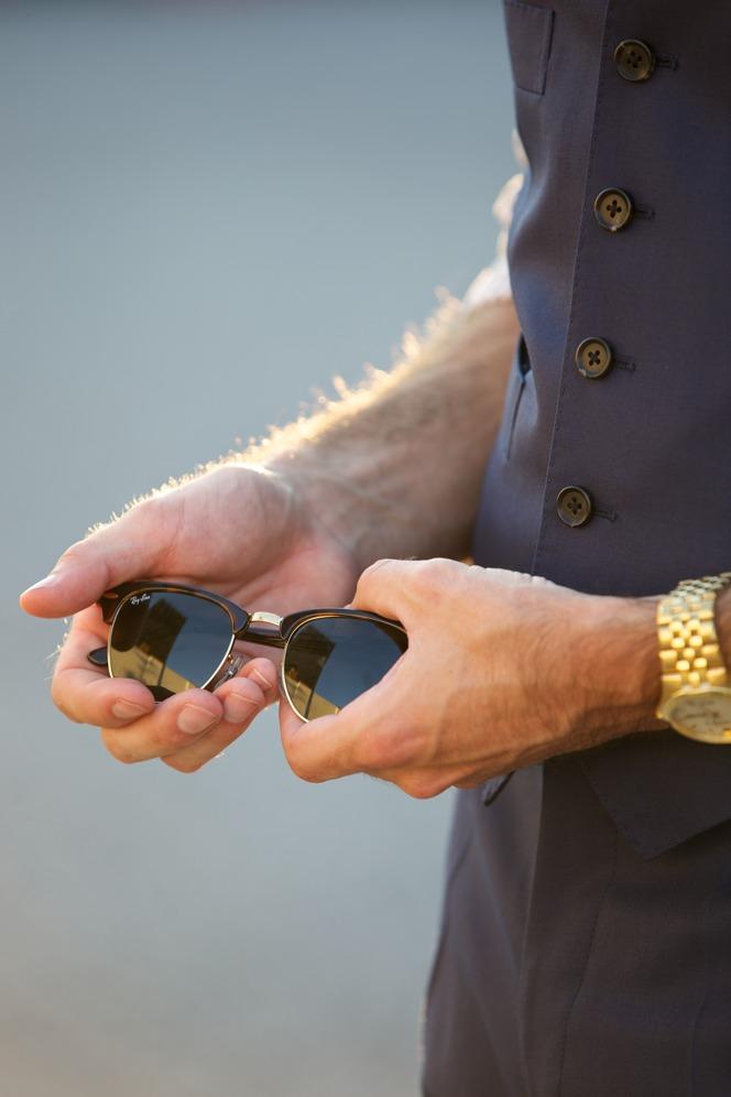 Blue Suit Waistcoat Pants - He Spoke Style