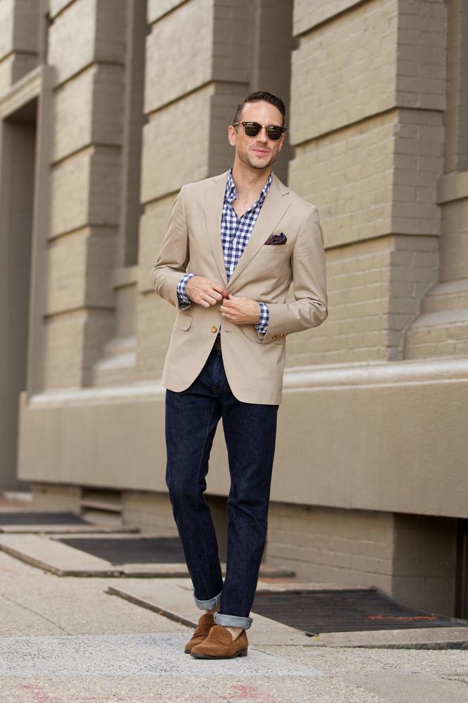 Khaki Blazer - He Spoke Style