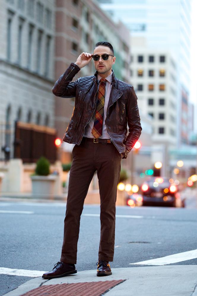Oxblood Leather Jacket - He Spoke Style