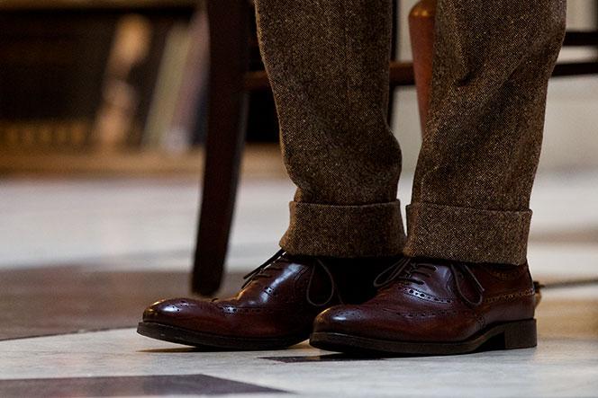Brown Tweed Suit - He Spoke Style