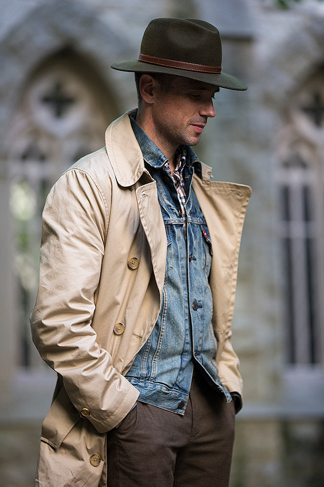 Khaki Trench Coat In-Between - He Spoke Style