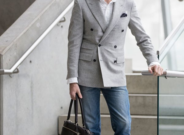 Casual Double Breasted Blazer - He Spoke Style