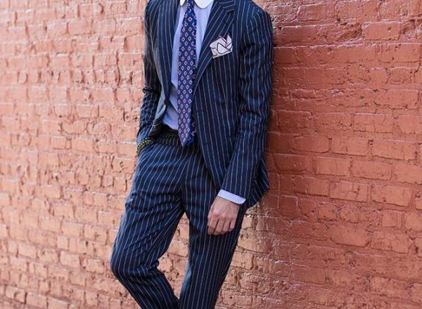 Pinstripe Suit Italian Flair - He Spoke Style