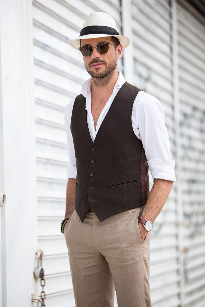 YSL Vest and Panama Hat - He Spoke Style