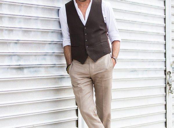 Summer Waistcoat Linen Pants Hat - He Spoke Style