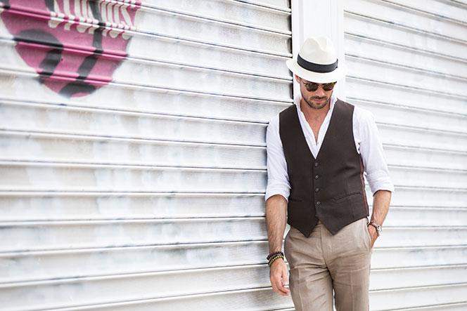 Waistcoat Panama Hat - He Spoke Style