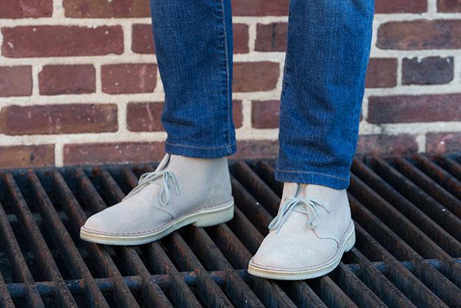 Clarks Desert Boots in Sand Suede - He Spoke Style