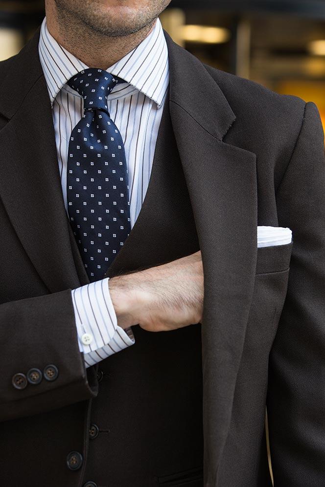 Mens Brown 3-Piece Suit - He Spoke Style