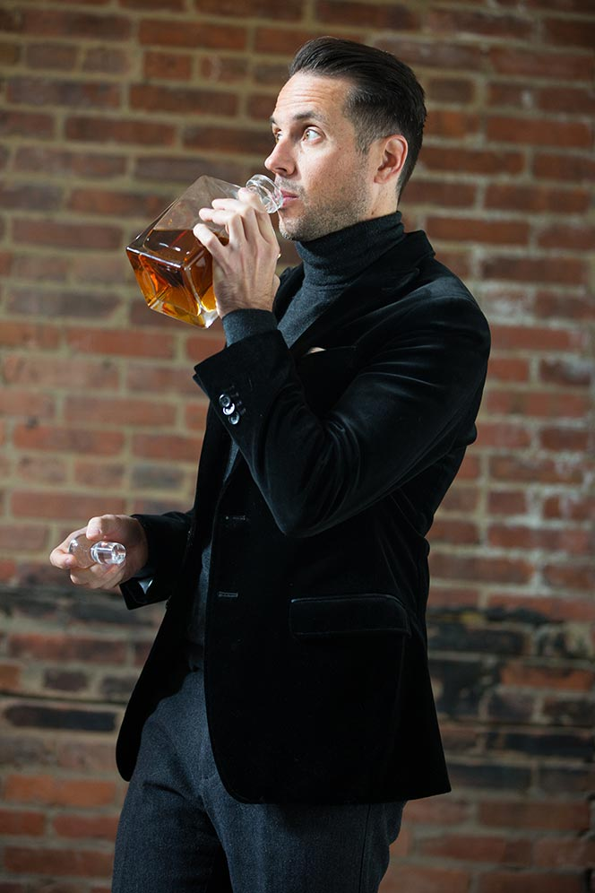 black-velvet-blazer-grey-turtleneck-mens-outfit-ideas-holiday-party-new-years-eve-scotch