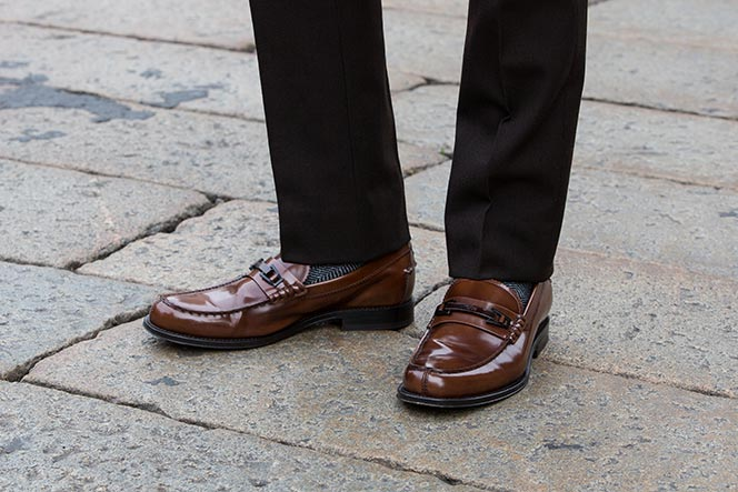 tods leo clamp loafers
