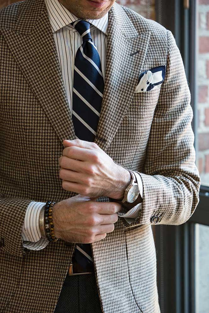 mens houndstooth jacket suit blazer
