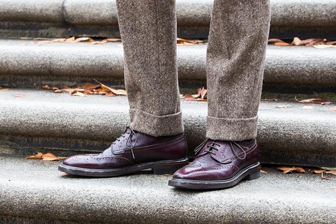 silvano-sassetti-burgundy-wingtip-shoes-with-tweed-pants