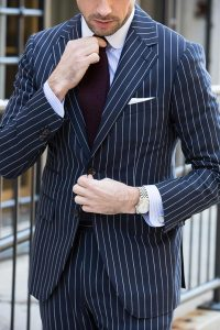 How To Wear a Blue Pinstripe Suit in the Spring - He Spoke ...