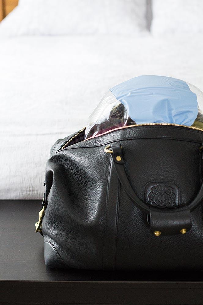 leather duffle bag storage methods
