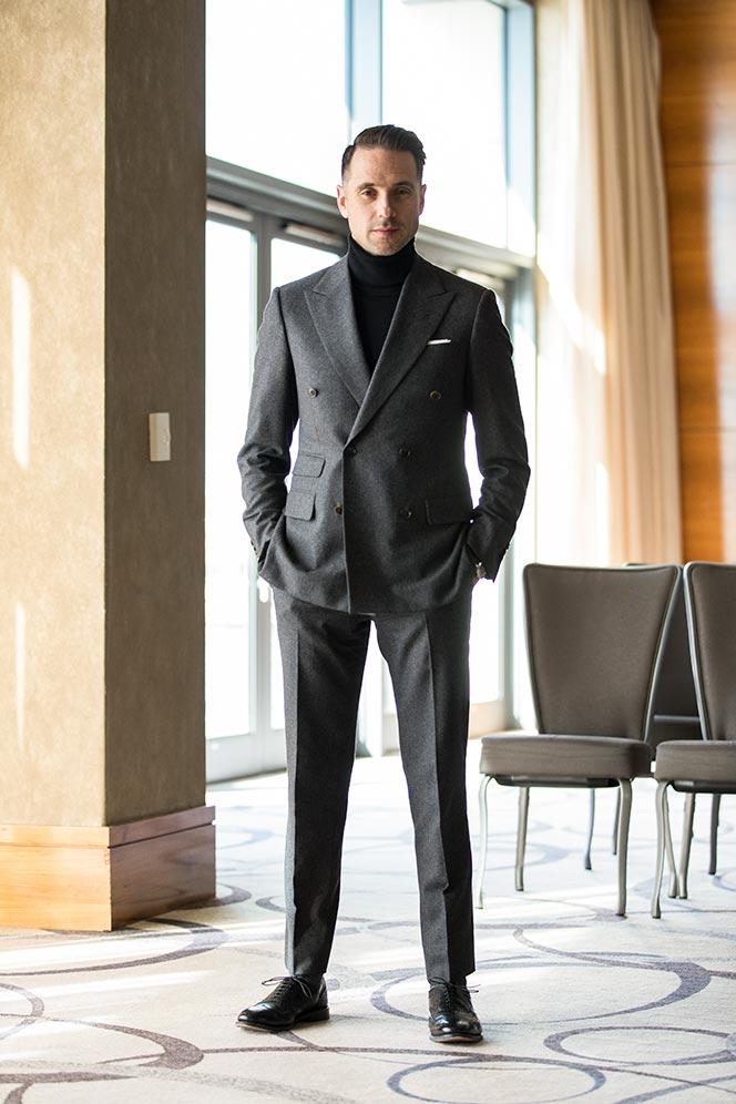 grey-double-breasted-suit-black-turtleneck-black-tie-no-tuxedo-alternative-outfit-idea-men-2