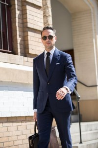 Blue suit and tie for your interview t