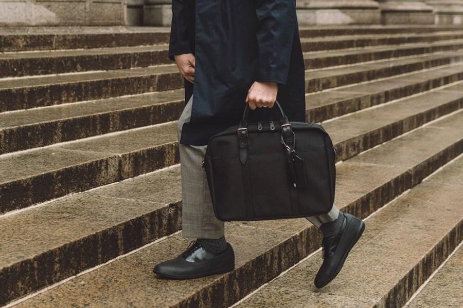 navy raincoat outfit idea 2019