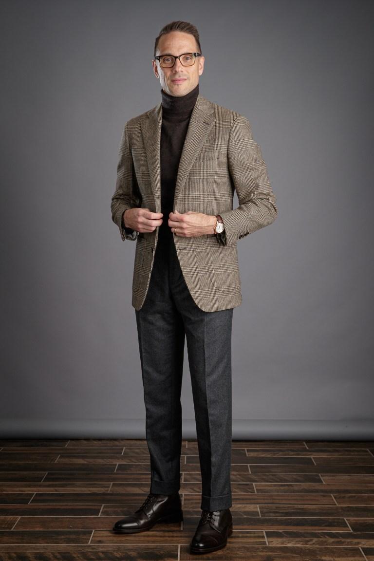 Brown Plaid Sport Coat