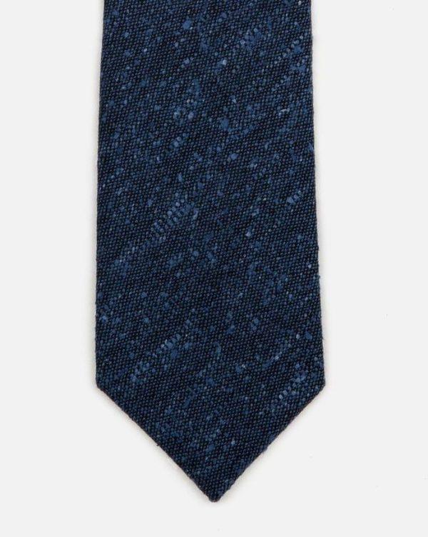 seaward stearn flecked solid tie silk wool blue