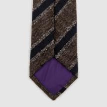 seaward stearn wool striped tie brown navy