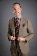 Brown Donegal Tweed Suit