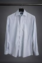 Grey Block Stripe Dress Shirt