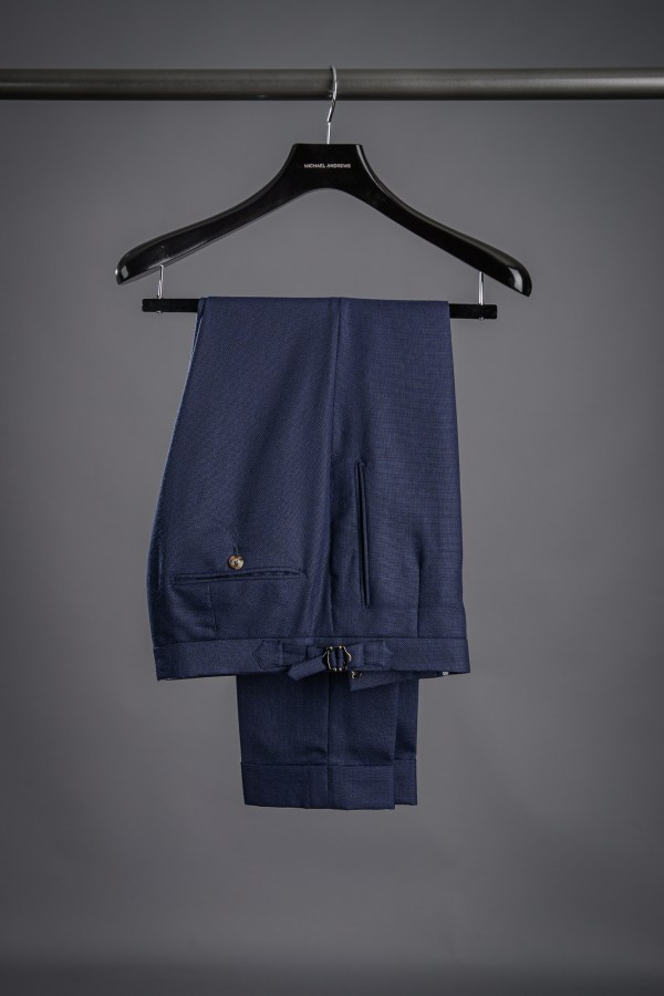 Essential Navy Blue Hopsack Suit