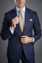 Essential Navy Blue Hopsack Suit
