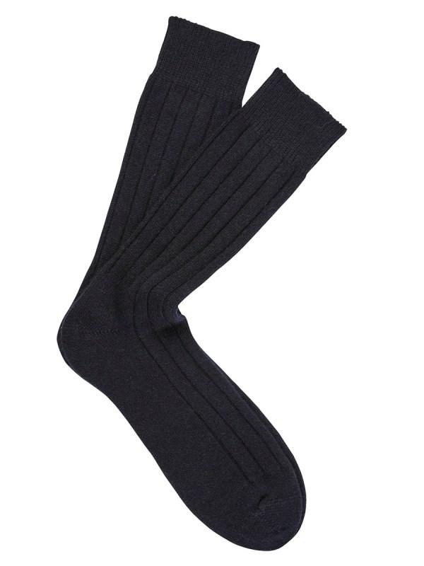 Cashmere Dress Socks Navy