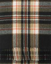 Brown White Tiger Modern Tartan Cashmere Scarf