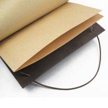 Brown La Compagnie du Kraft Smooth Leather Notebook