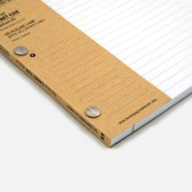 La Compagnie du Kraft Notebook Refill - White Lined