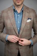 Medium Brown Loro Piana Plaid Sport Coat