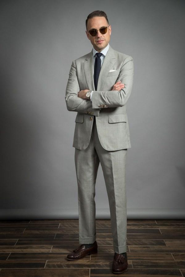 Light Grey Fresco Suit