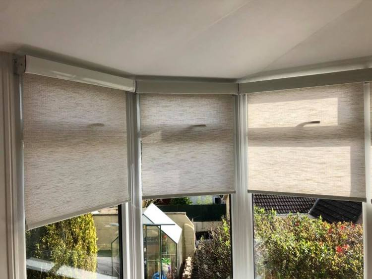 Senses roller blinds fitted in conservatory