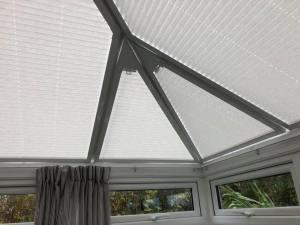 Perfect fir light coloured roof blinds installed