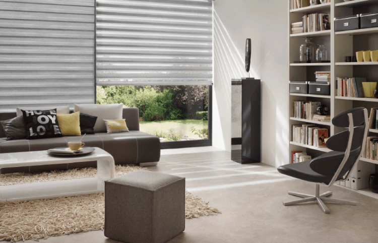 Mirage grey roller blind