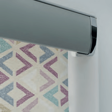 Senses roller blind with silver headrail
