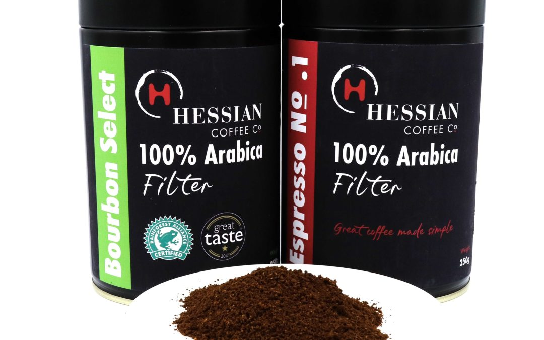 Hessian's new retail coffee tins
