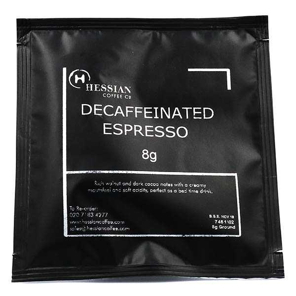 Decaffeinated Single Shot 100 x 8g