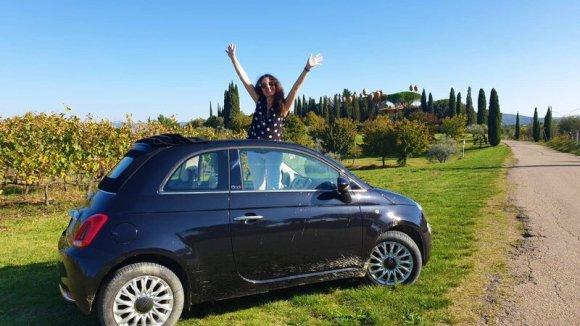 Sommeliere Isabeel Gil von Bed & Wine bei einer Weintour im Chianti Gebiet Toskana